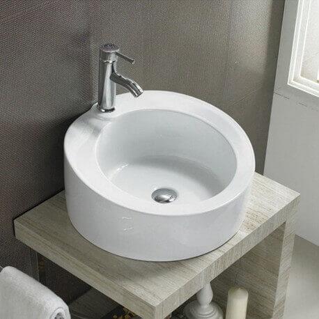 Vasque à poser ronde céramique | Rue du Bain