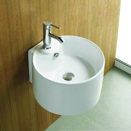 Lavabo  suspendu céramique blanc Sigma| Rue du Bain