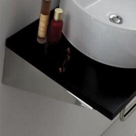 Petite Paire Equerre de Fixation lavabo, 25 x 8 cm, Inox brossé