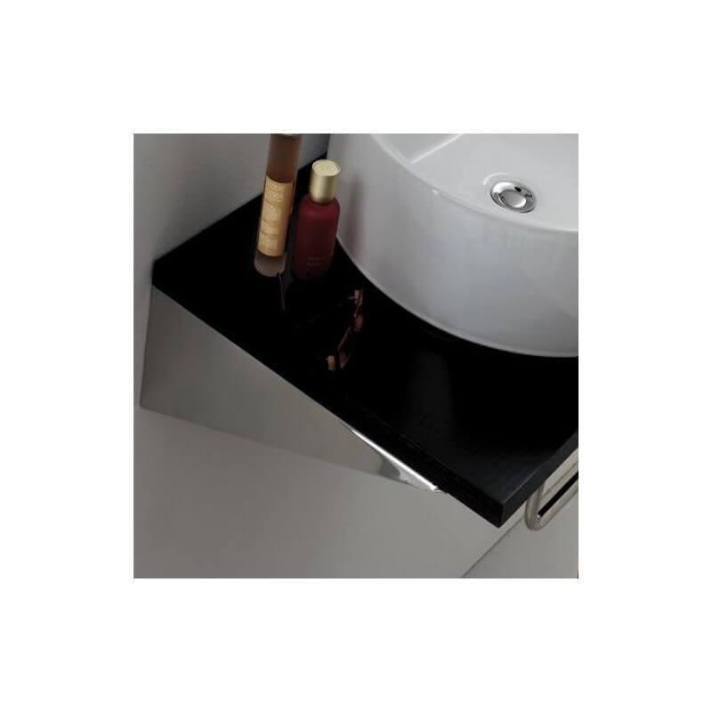 paire equerre de fixation lavabo 25 x8 cm inox bross. Black Bedroom Furniture Sets. Home Design Ideas