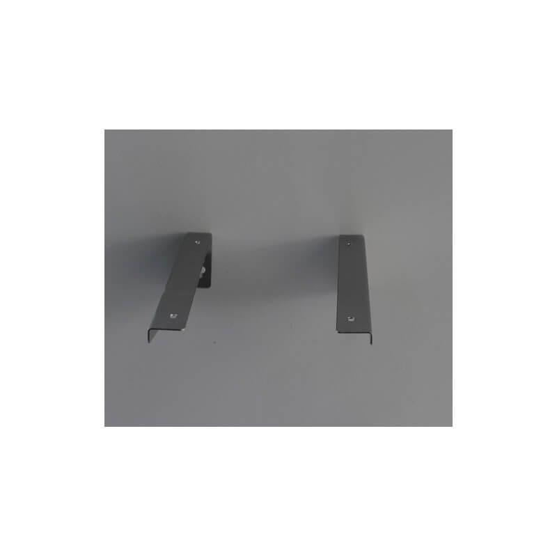Paire equerre de fixation lavabo 25 x8 cm inox bross - Fixation miroir salle de bain ...