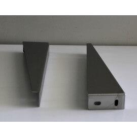 Petite Paire Equerre de Fixation lavabo, 25 x 8 cm, Inox brossé | Rue du bain