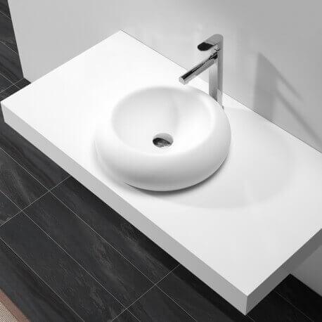 Vasque à poser rondecomposite blanc mat Allure| Rue du Bain