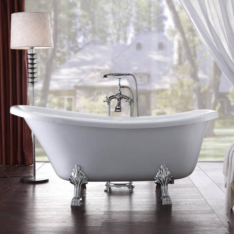 baignoire ilot ovale blanche acrylique 170x80 cm retro Résultat Supérieur 15 Bon Marché Robinet Baignoire Ilot Pas Cher Pic 2018 Gst3