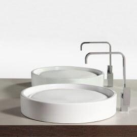 Vasque à poser ronde céramique Fame +| Rue du Bain
