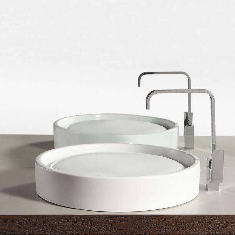 vasque poser ronde 51x10cm c ramique fame. Black Bedroom Furniture Sets. Home Design Ideas