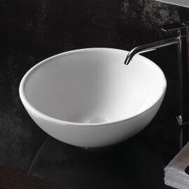 Vasque à poser Bol 40x40cm Céramique blanche, Pop