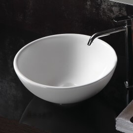 Vasque à poser bol céramique blanche | Rue du Bain