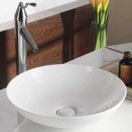Vasque à poser ronde céramique Fine + | Rue du Bain