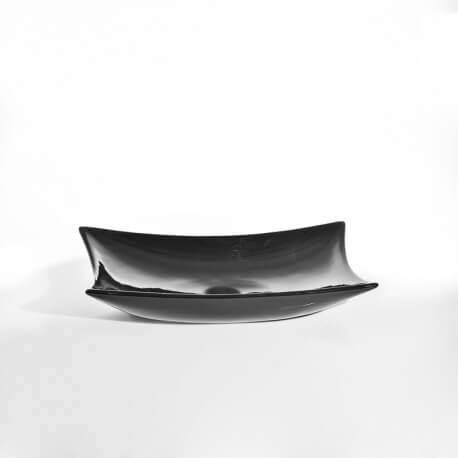 Vasque à poser noire céramique Wing | Rue du Bain
