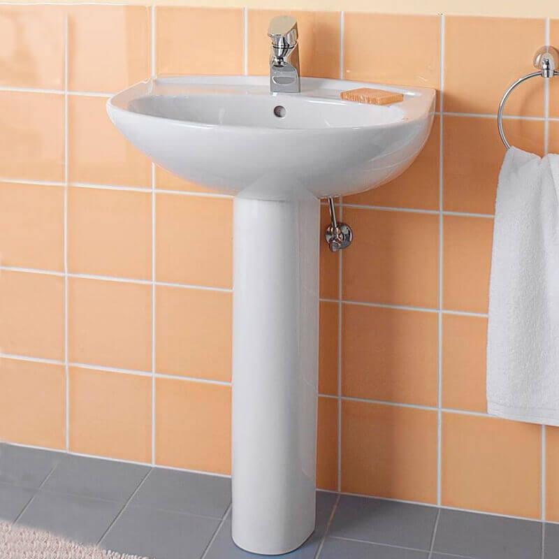 Lavabo sur colonne céramique Cottage lavabo sur pied