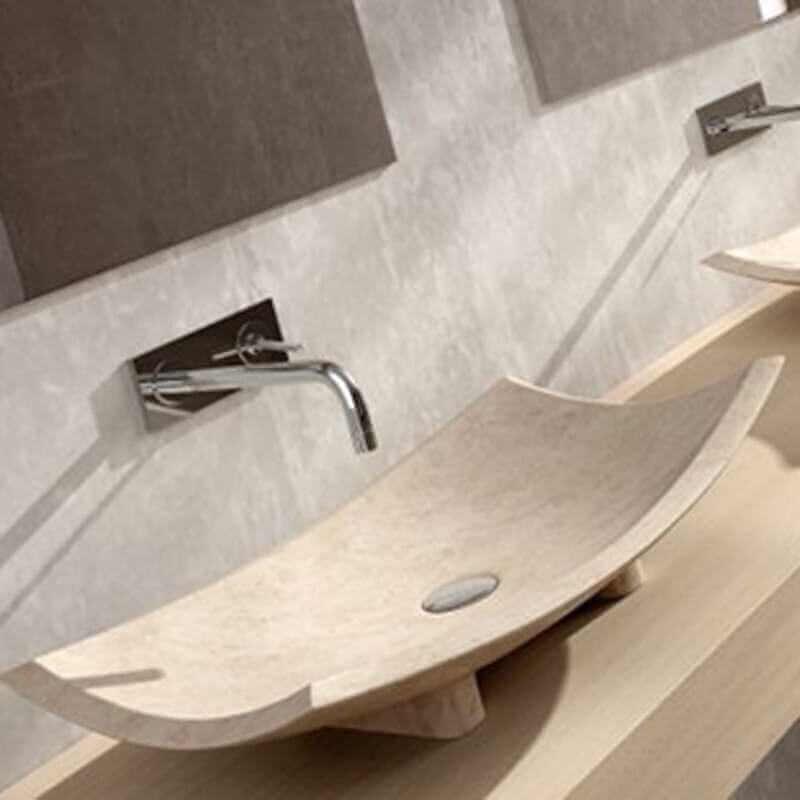 vasque poser rectangulaire pierre beige 40x60 plume. Black Bedroom Furniture Sets. Home Design Ideas