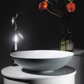 Vasque à poser ronde céramique Fine  | Rue du bain