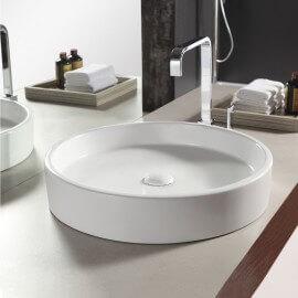 Vasque à poser Ronde, 51x10cm, Céramique, Fame
