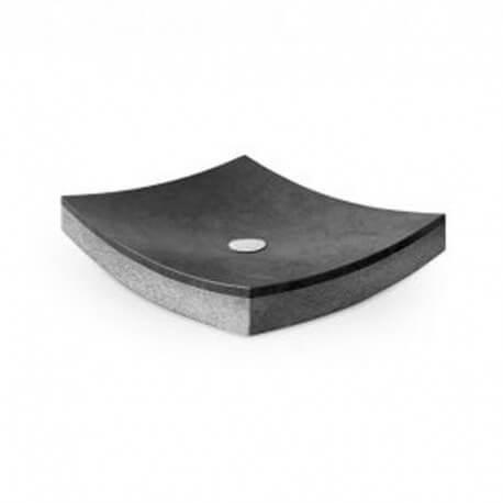 Vasque à poser rectangulaire, pierre noire 50x40, Profil
