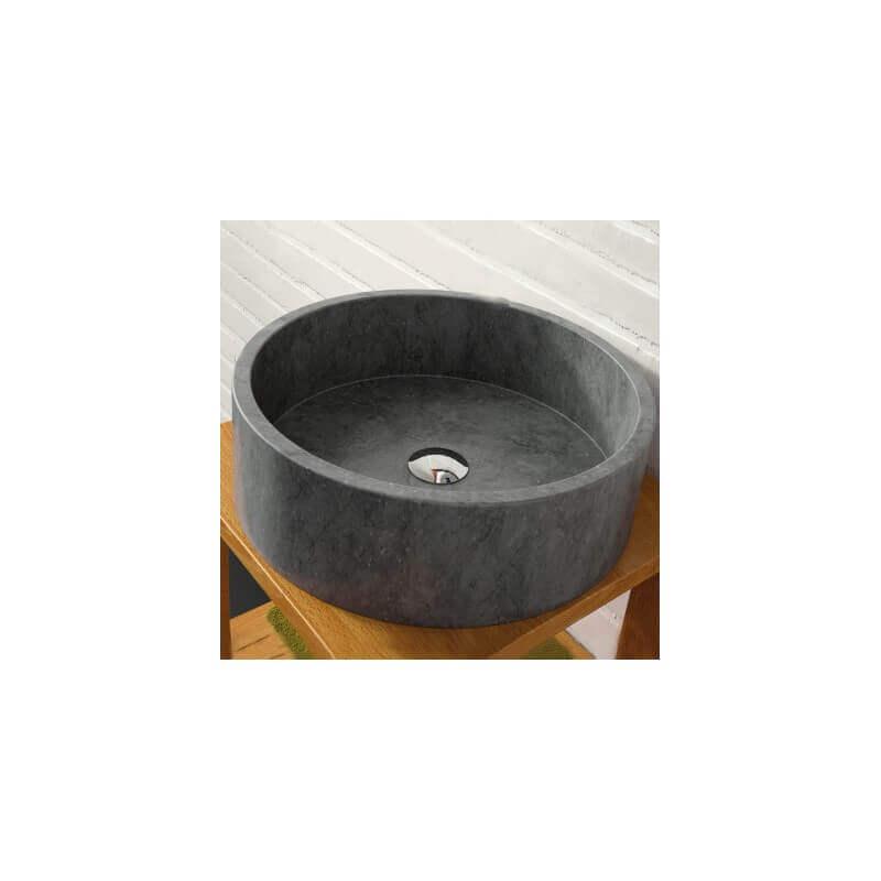 vasque poser bol pierre noire aloha vasque noire rue. Black Bedroom Furniture Sets. Home Design Ideas