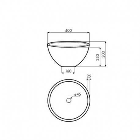 Vasque à poser ronde asymétrique pierre naturelle beige Deco | Rue du Bain