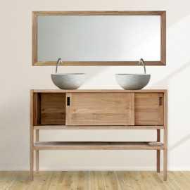 Meuble sous vasque, teck 120x50 cm, Wood