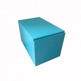 Meuble Bas de Rangement 1 Tiroir, 30x50 cm, Bleu , ARTcolor