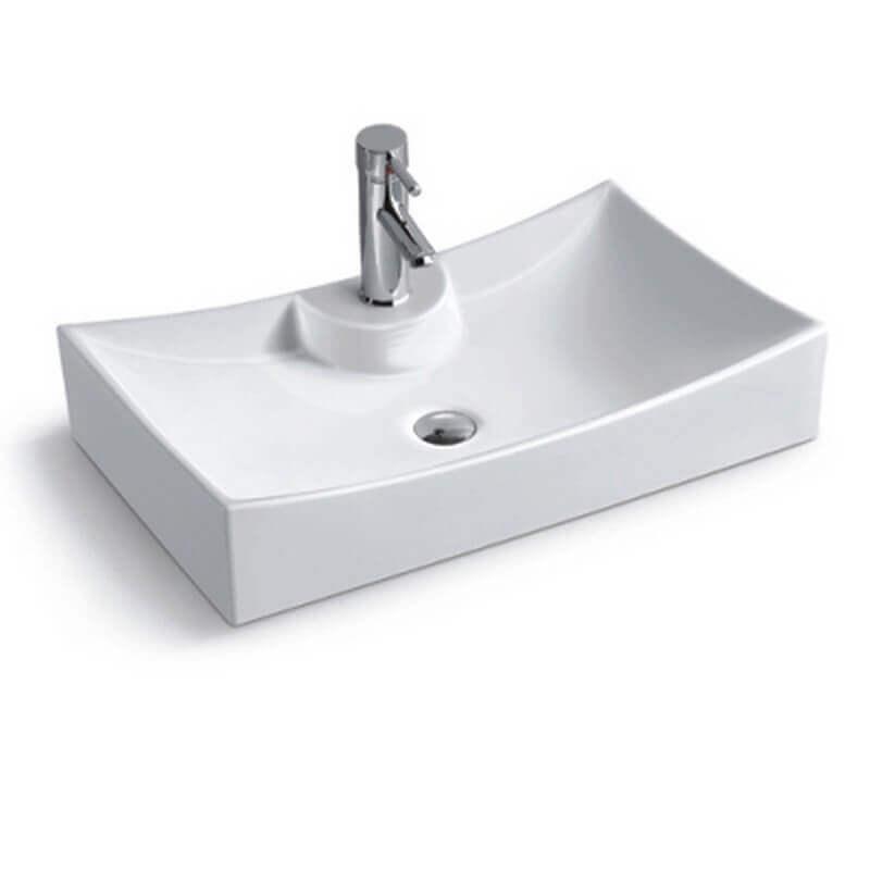 vasque rectangulaire lineare vasque poser c ramique. Black Bedroom Furniture Sets. Home Design Ideas