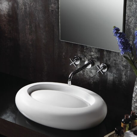 Vasque à poser ovale céramique Délice | Rue du Bain