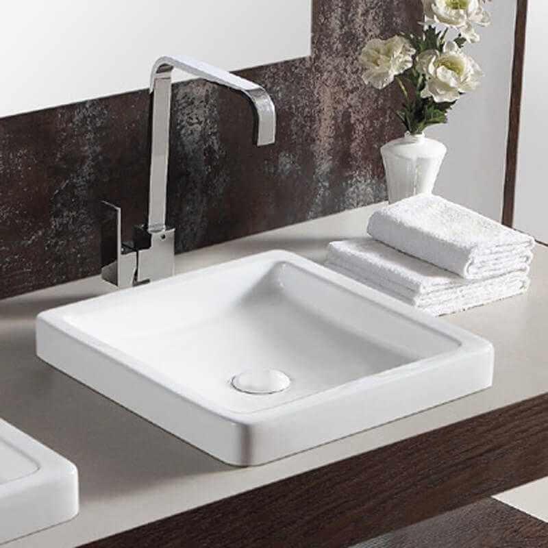 vasque semi encastr e carr e temp vasque encastrer. Black Bedroom Furniture Sets. Home Design Ideas