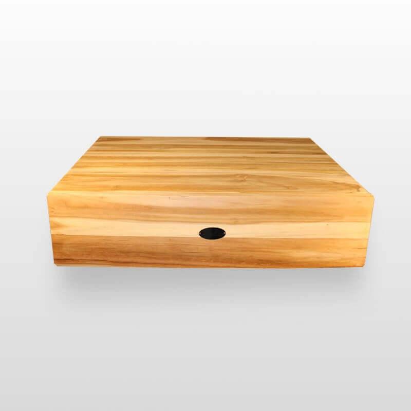 plan sous vasque teck liner 60 plan salle de bain suspendu rue du bain. Black Bedroom Furniture Sets. Home Design Ideas
