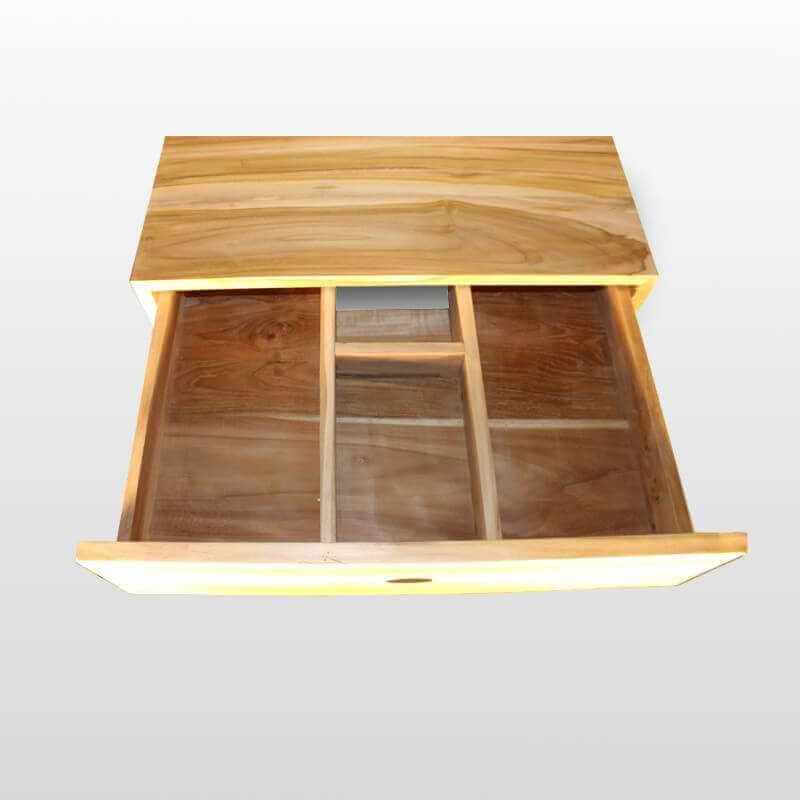 Plan sous vasque teck 60x50 cm liner 60 rue du bain for Meuble sous vasque salle de bain 60 cm