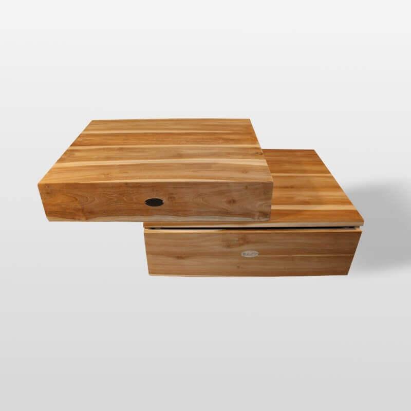 plan sous vasque et tiroir teck 60x50 cm compac 60 rue du bain. Black Bedroom Furniture Sets. Home Design Ideas