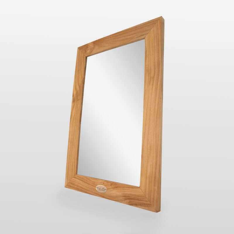 Miroir de salle de bain teck massif 60x40 cm classic - Miroir teck salle de bain ...