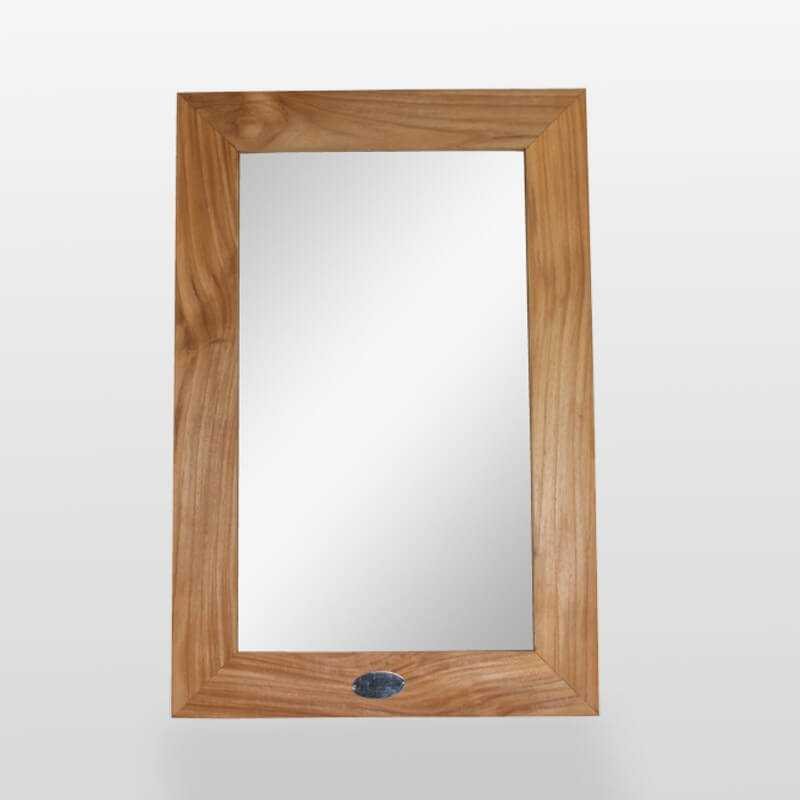 Miroir de salle de bain, teck massif 60x40 cm, Classic Rue ...