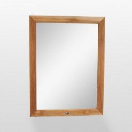 Miroir de salle de bain,teck 120x90 cm, Alto