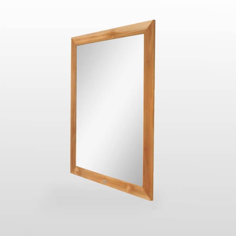 Miroir de salle de bain teck 120x90 cm alto rue du bain for Miroir salle de bain 90 cm