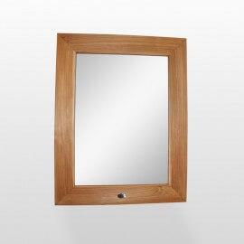 Miroir de salle de bain, teck 70x90 cm, Cadra