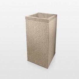 Lavabo totem carré en pierre beige, 90x45, Stone