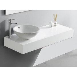 Plan salle de bain laqué blanc brillant - 120x50 cm, - ARTcolor