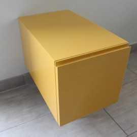 Meuble de Rangement 1 Tiroir, 60x50 cm, Jaune, Arcolor