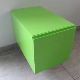 Meuble de Rangement 1 Tiroir, 60x50 cm, Vert Arcolor