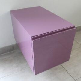 Meuble de Rangement 1 Tiroir, 60x30 cm, Bois laqué Couleur, Arcolor