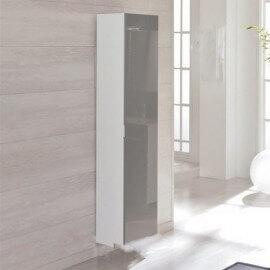 Armoire de Rangement 1 Porte Miroir - 150x30 cm - Vioine Brillant - Artcolor