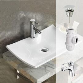 Pack Scala vasque , bonde, siphon, robinet, |  Rue du Bain