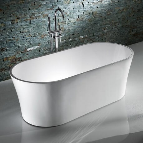 Baignoire ilot ovale acrylique blanche | Rue du bain