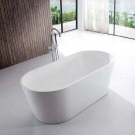 Baignoire ilot ovale Acrylique Blanc, Naples Rue du Bain