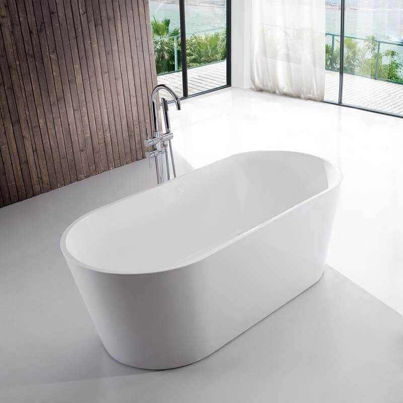 baignoire acrylique blanc milan baignoire lot ovale rue du bain. Black Bedroom Furniture Sets. Home Design Ideas
