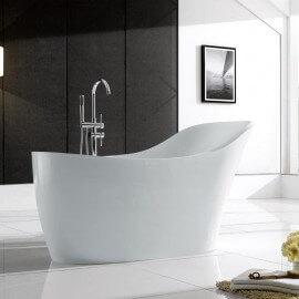 Baignoire ilot Ovale - Acrylique Blanc - 170x75 cm - Venise