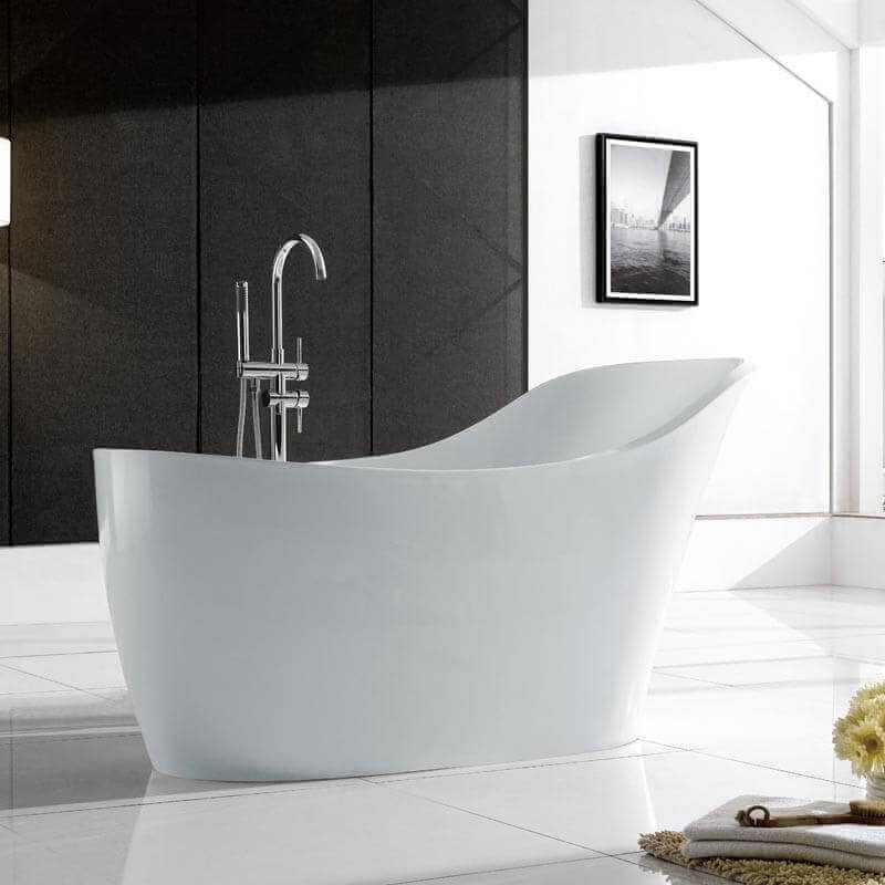 baignoire ovale acrylique blanc venise 170 x 75 cm. Black Bedroom Furniture Sets. Home Design Ideas