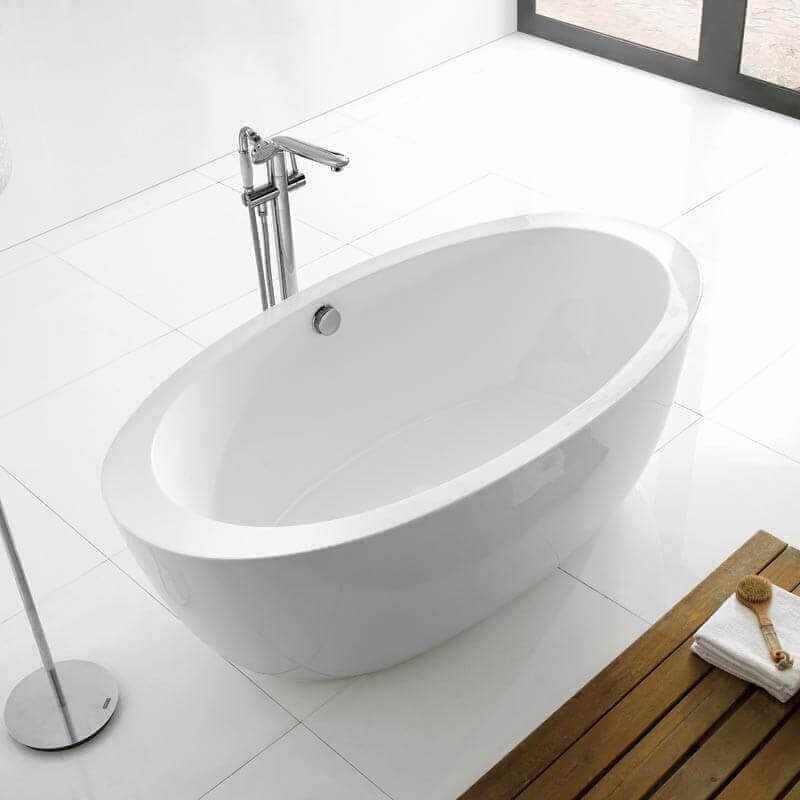 Baignoire acrylique blanc paris baignoire lot ovale for Baignoire acrylique prix