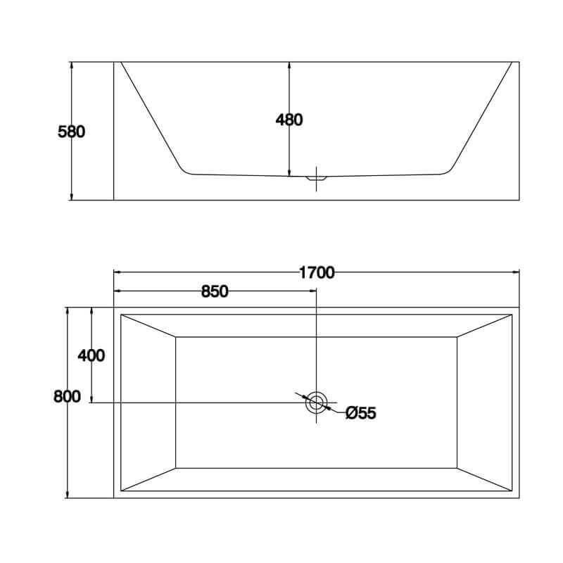 baignoire acrylique noir london baignoire lot rectangle. Black Bedroom Furniture Sets. Home Design Ideas