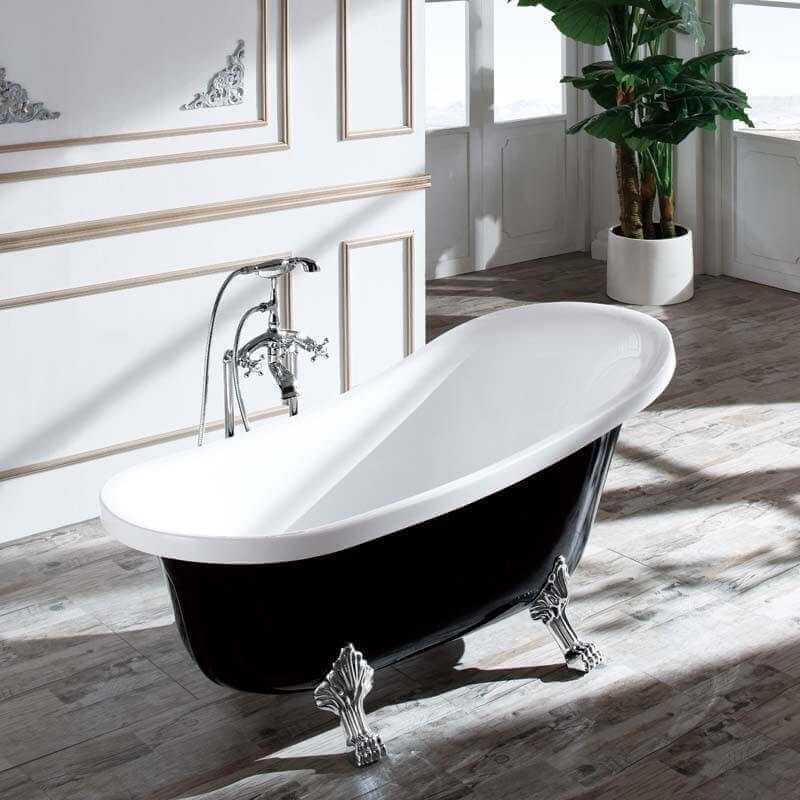 baignoire acrylique noir vienne baignoire ilot ovale. Black Bedroom Furniture Sets. Home Design Ideas
