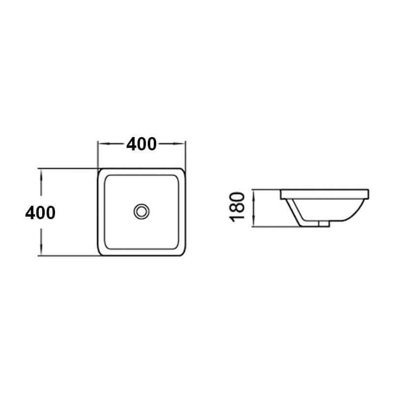 vasque semi encastrable carr e life vasque encastrer rue du bain. Black Bedroom Furniture Sets. Home Design Ideas